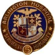 Vintage 10K Gold Nursing Employee Service