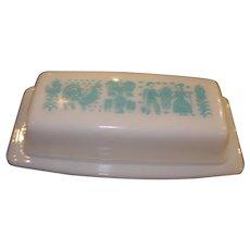 Vintage Pyrex Amish Butterprint Pattern Butter Dish