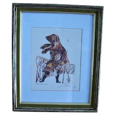 Huong Artist Proof  Alaska Eskimo Hunter  1981 Hand Signed Listed Artist