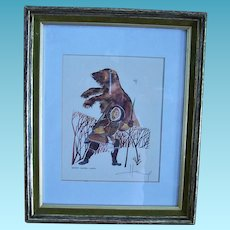 Huong Artist Proof  Alaska Eskimo Hunter  1981 Signed Listed Artist