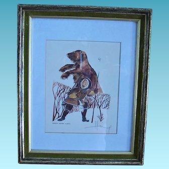 Huong Artist Proof  Alaska Eskimo Hunter  1981 Signed Listed Artist