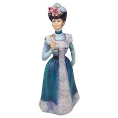 Francesca Art Fine Bone China Figure Alexandra Teal Blue Made in England
