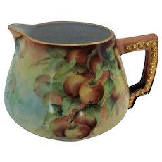 Antique Bavarian Porcelain Cider or Lemonade Pitcher