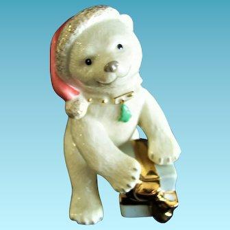 Vintage Lenox Porcelain Christmas Polar Bear Cub Figurine