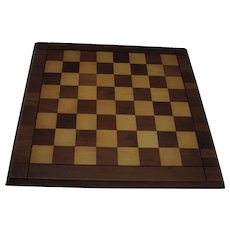 "Vintage Drueke Wooden Game Board Walnut & Birch 15"" by 15"" Double Sided Chess Checkers"