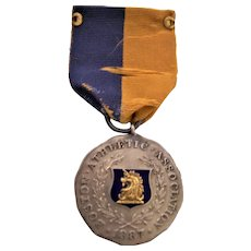 Vintage Diegas & Clust Sterling Sporting Medal Boston Athletic Association