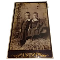 1900s Cabinet Photo Twin Boys