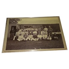 1900s Cabinet Photo of an English Cricket Team