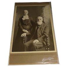 1900s Cabinet Photo Older Couple