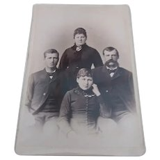 1900s Cabinet Photo Family 4 Adults