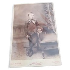 1900s CDV Cabinet Card Photo Young Boy