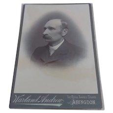 1900s CDV Cabinet Card Photo Gentleman Portrait