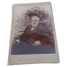 1900s CDV Cabinet Card Photo Old Gentleman Portrait
