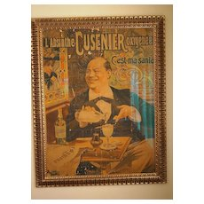 FRANCISCO TAMAGNO French Absinthe Advertising Poster, 1896, Professionally Framed