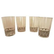 4 French Baccarat Crystal Whiskey Glasses, c. 1940