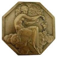 Original Pierre Turin French Art Deco Bronze Medal for the 1925 Paris Exposition Internationale des Arts Décoratifs