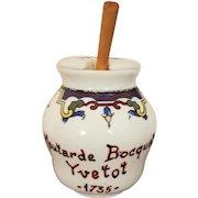 Vintage Paris, French Bistro Mustard Pot