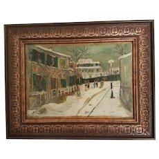 Élisée Maclet, French Impressionist Oil Painting, Paris Montmarte Caberet Le Lapin Agile, c. 1920