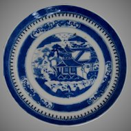 c.1800 Chinese Nanking Plate.  Excellent condition