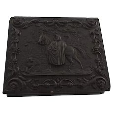 Antique Gutta Percha Case with Horse and Dog