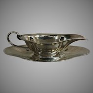 Sterling Silver Sauce Boat and Tray