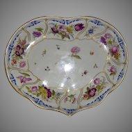 c.1810 Derby Heart Shaped Botanical Dish