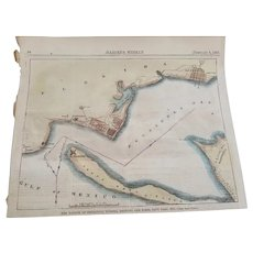 1861 Original Map of Pensacola Bay from Harper's Weekly