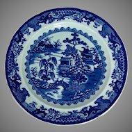 c.1840 Ornate English Ironstone Dinner Plate