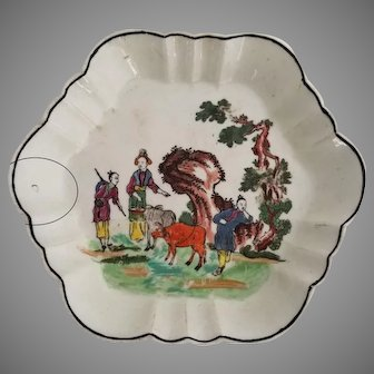 c.1760 Dr. Wall Worcester Red Bull Tea pot Stand