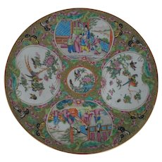 Superb Antique Chinese Export  Rose Medallion Charger