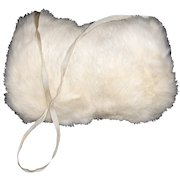 Vintage Childs  White Fur Muff