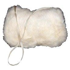 Vintage Childs  White Fur Muff