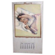 'Off To Dreamland' 1945 Calendar Charlotte Becker