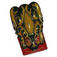 Vintage Tin Frog Clicker/ Noise Maker