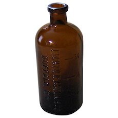 Frontier Asthma Co. Buffalo, N.Y. Amber Druggist Bottle