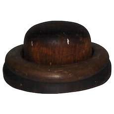 Hoff-Man 2 Piece Wooden Hat Block Millinery Mold #4