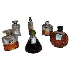 Perfume Scent Bottle Lot 6 Vintage Miniatures