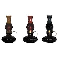 Miniature Oil Lamp Shaped Perfume Scent Bottles