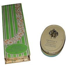 Vintage Yardley 'Spring Flowers Floral Fragrance Duet' and Lavender Solidified Brilliantine Tin