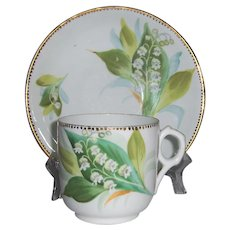 Lily of the Valley Cup and Saucer Un-Marked