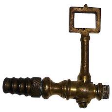 Vintage Brass Gas Lamp Valve