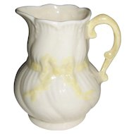 "Irish Belleek ""Ribbon"" Creamer 7th Mark"