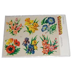 Vintage Canada Decal 'decorators' Variety of Flowers MIP
