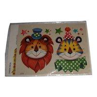 Vintage Canada Decal 'decorators' Circus Lion and Tiger MIP