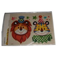 Vintage Canada Decal 'decorators' Circus Lion and Tiger MIP