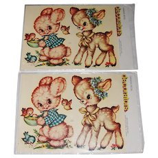 Vintage Canada Decal 'decorators' Bunny and Deer MIP