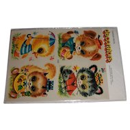 Vintage Canada Decal 'decorators' Big Eyed Baby Critters MIP