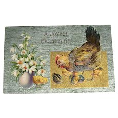 Embossed Easter Post Card Printed in Germany