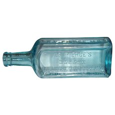 Dr. Pierce's Golden Medical Discovery Aqua/Blue Bottle