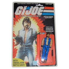NRFP 1982 Hasbro G.I. Joe Code Name CHUCK NORRIS Poseable Figure